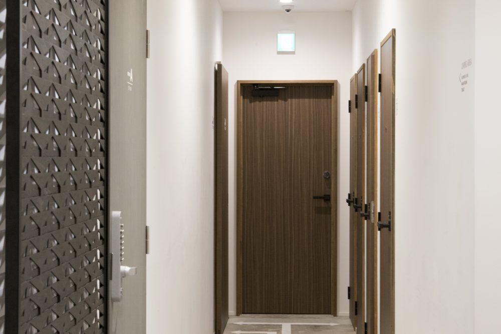 hallway at kaname hostel toilets washrooms water closets