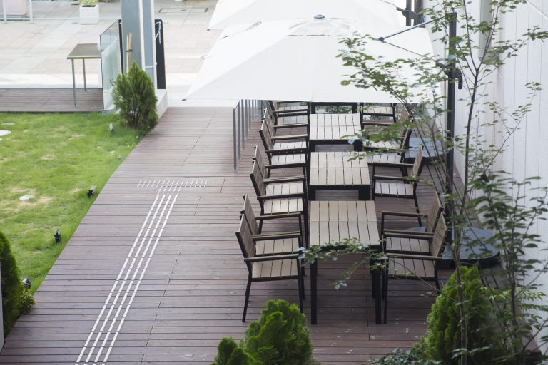 terrace table chairs at kmb