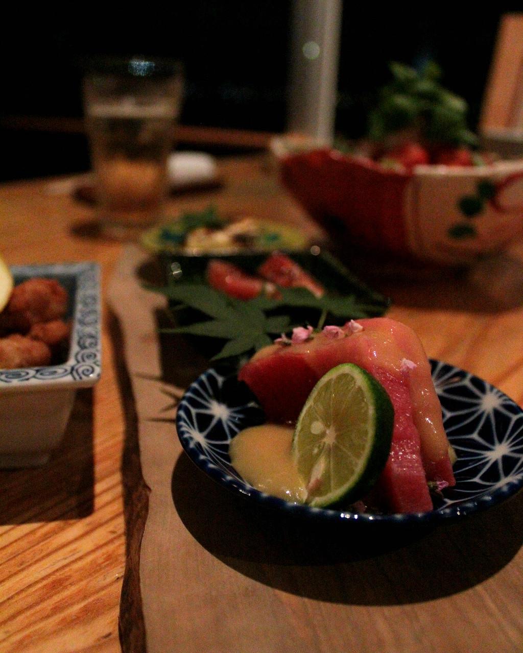 Plum Dining omakase chef's choice set, in Uchinada, Japan