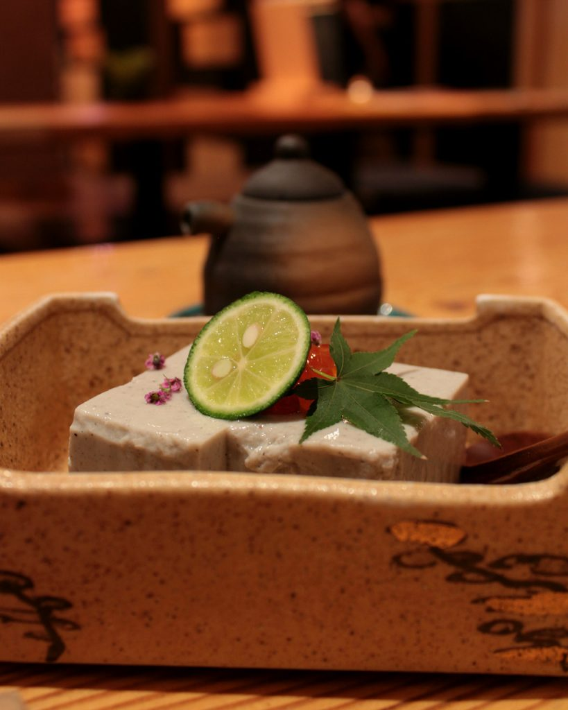 Black Sesame Tofu at Plum Dining in Uchinada, Japan