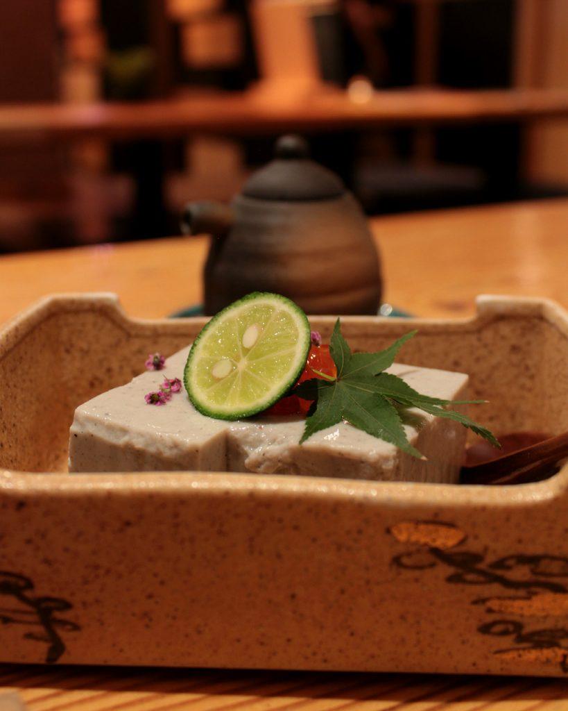 Black Sesame Tofu at Plum Dining in Uchinada, Japan