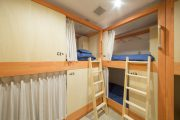 individual bunks in shared guesthouse rooms at Kaname Hostel
