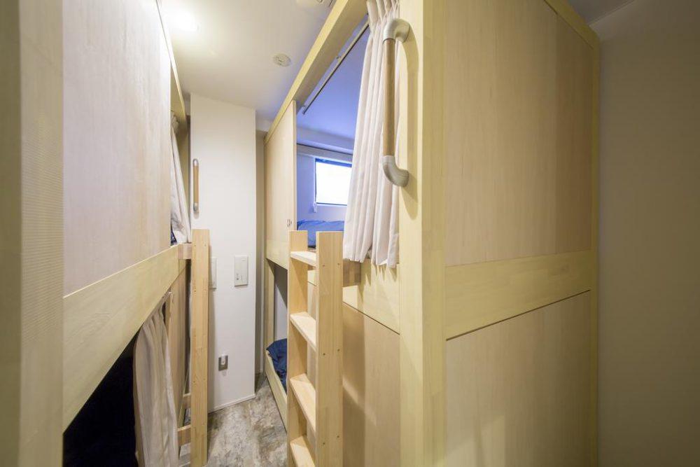 top bunk window in Kaname Hostel