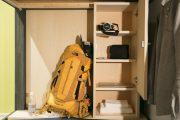 locker and shelf space in hostel in Kanazawa