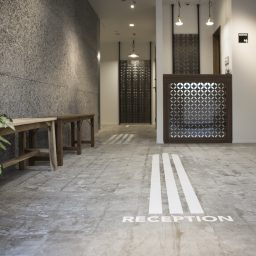 Welcome to Kaname Hostel. This way to the Front Desk.