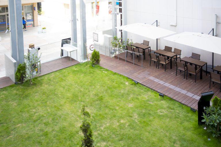 green lawn terrace at KMB