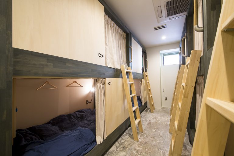 backpacker's hostel beds