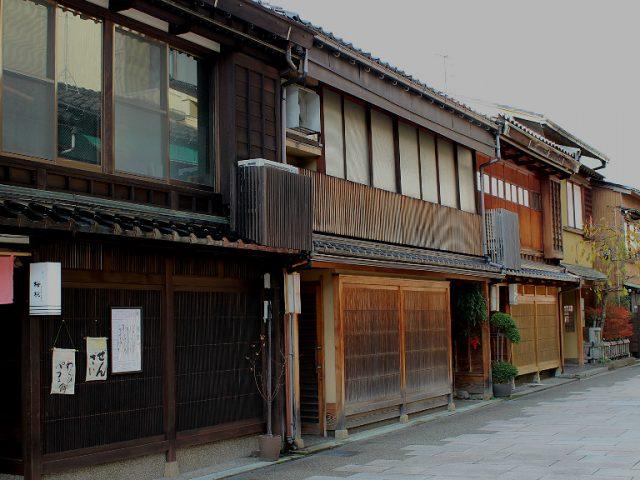 The west-most geisha district in Kanazawa, Nishichaya
