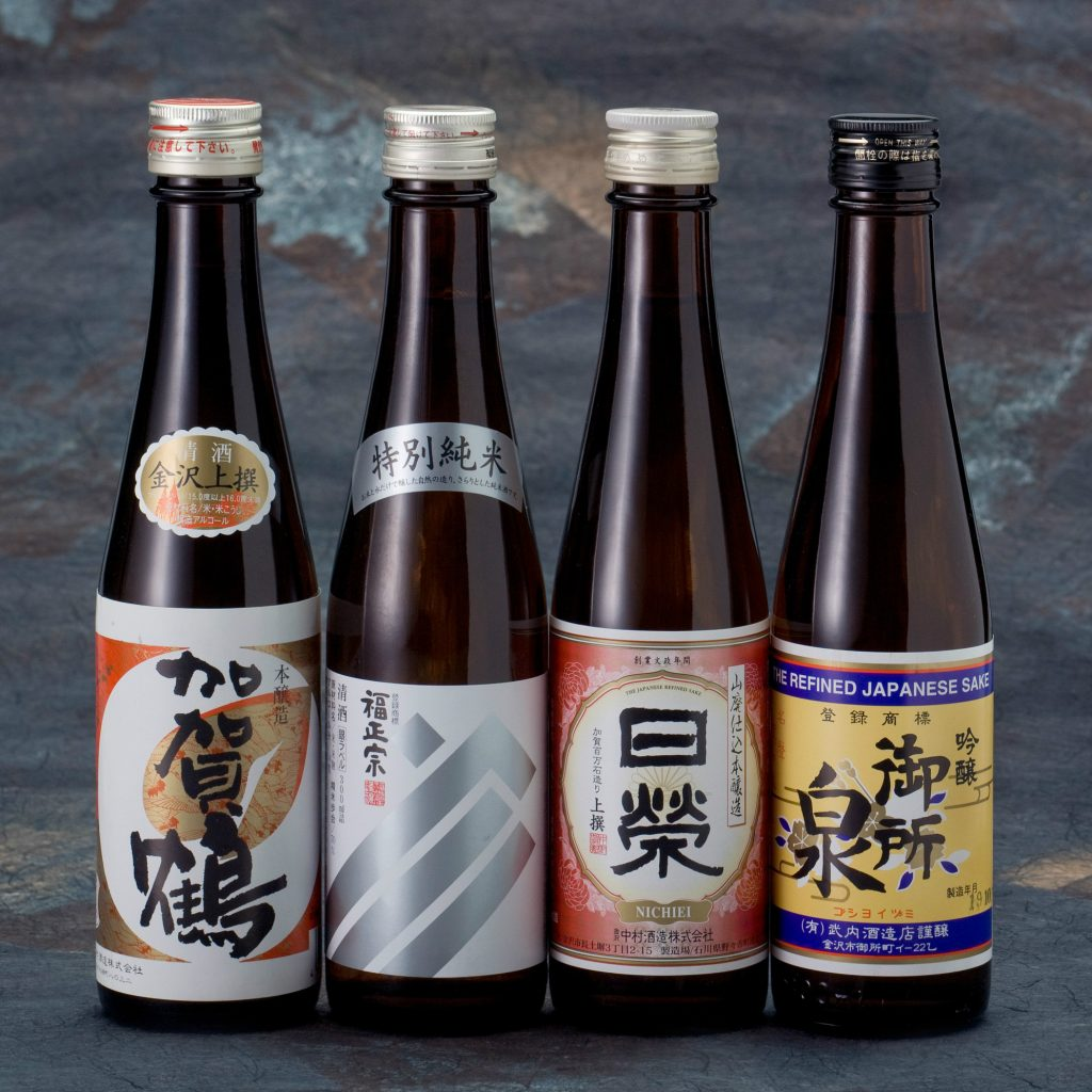 four of kanazawa's sake ishikawa
