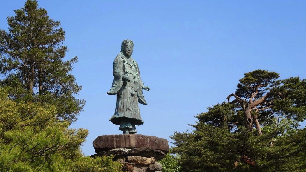 The Meiji Monument of Yamato Takeru in Kenroku-en Garden, Kanazawa