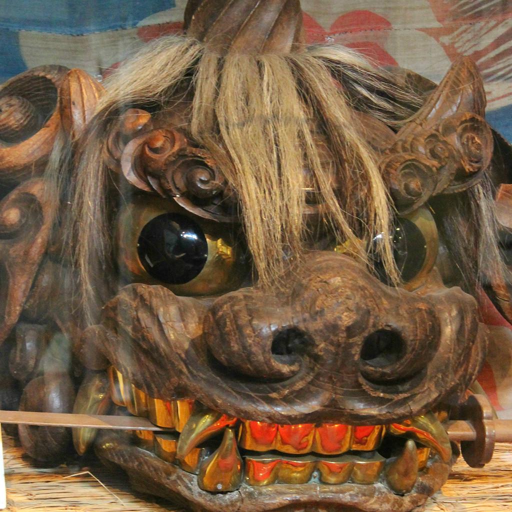 A Kaga-style Lion Head at Nagamachi Resthouse.