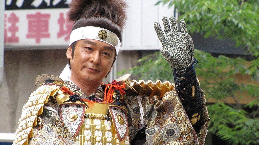 Japanese actor Tarou Kawano portraying Toshiie Maeda at the 2012 Hyakumangoku Matsuri in Kanazawa