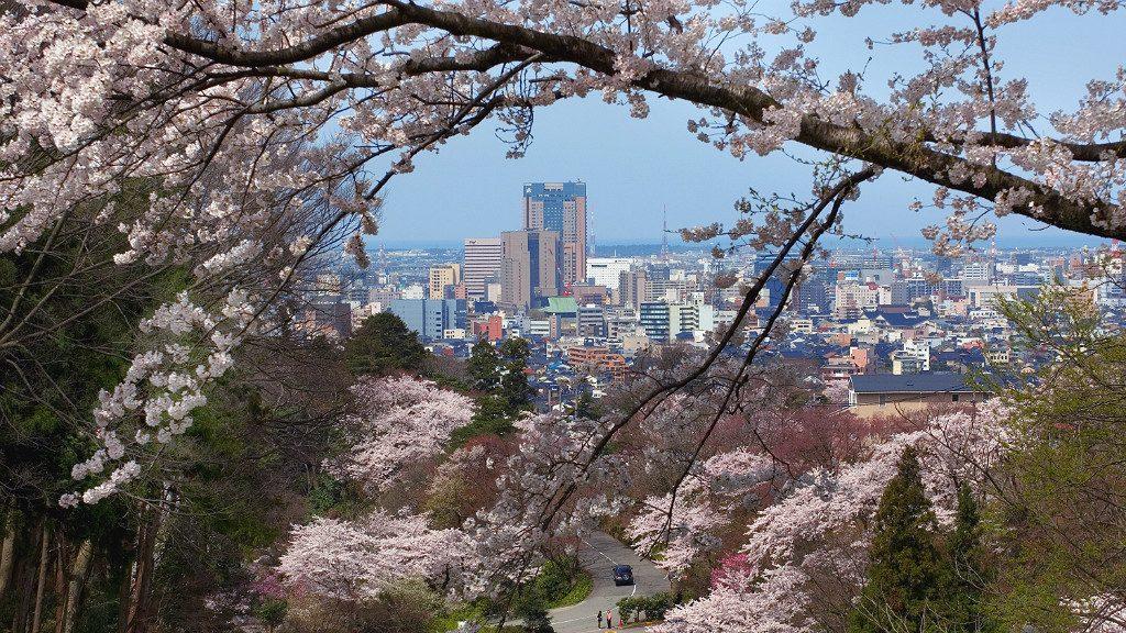 View of Kanazawa from Utatsuyama Park