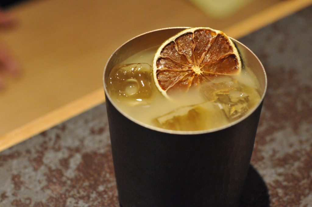 The Original Moscow Mule, Ginza Music Bar Style, available at Kanazawa Music Bar for their one year anniversary