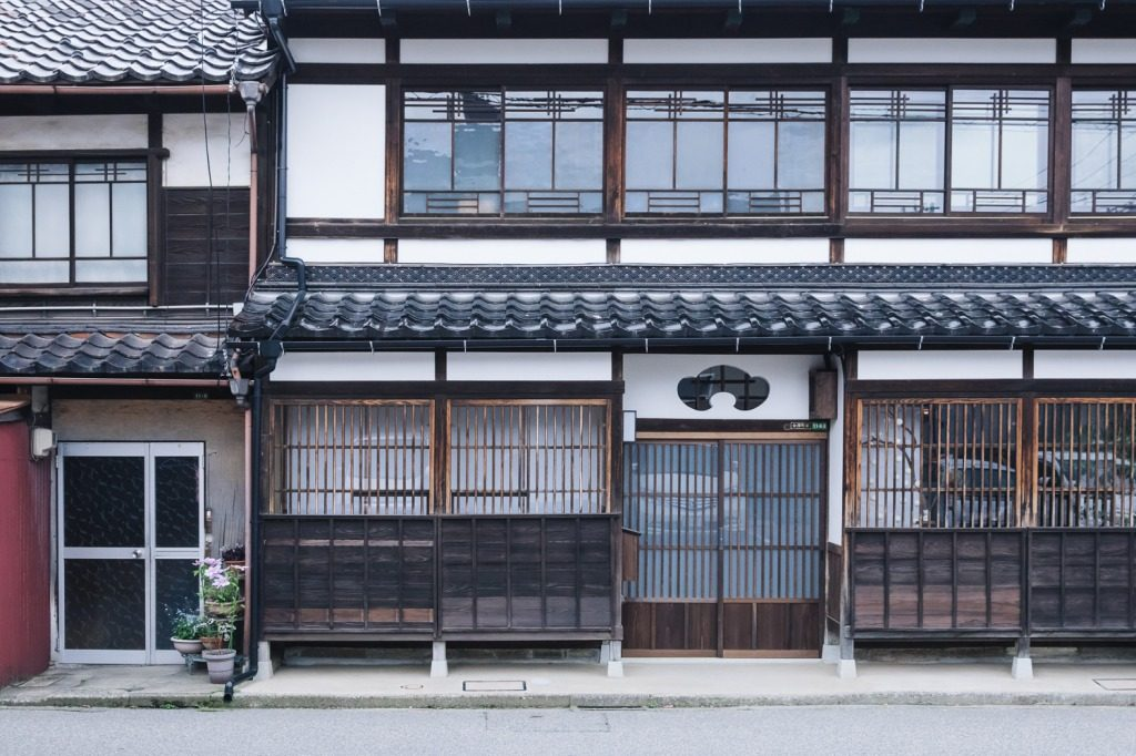 The Outside of a Machiya, the traditional style of townhouse for Japanese residents of the pre-modern eras