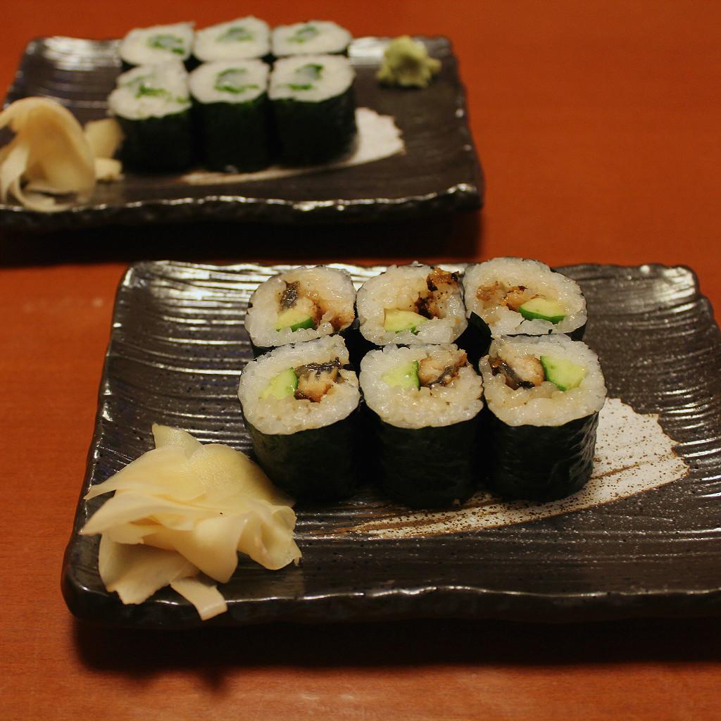 Kourin Sushi's maki rolls, in Kanazawa