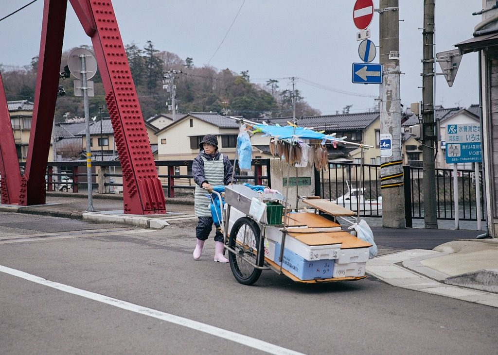 On the way to the Wajima Morning Market