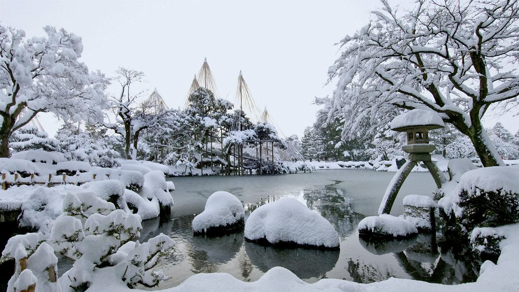 Kenrokuen Garden in winter, courtesy of Kanazawa City