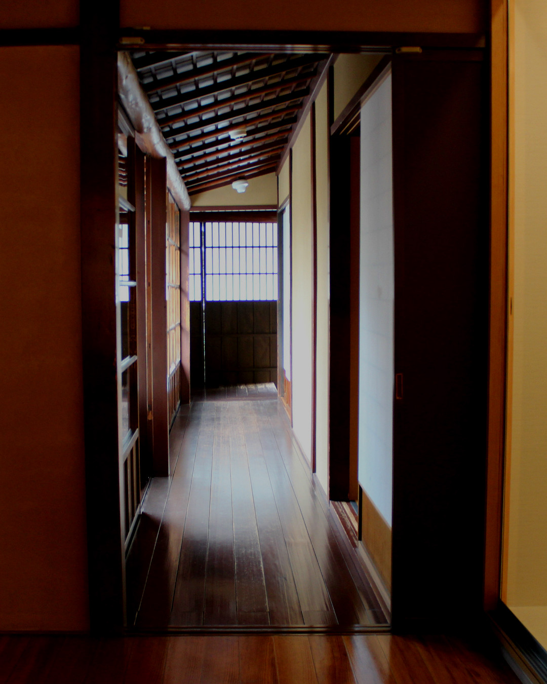 The nightingale floor in Terashima's House, the banished samurai of Kanazawa, Japan