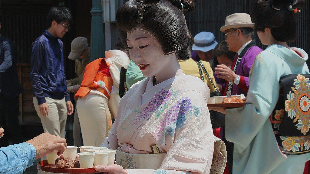 Furumai Sake Geisha Event in Nishi Chaya, Kanazawa Japan