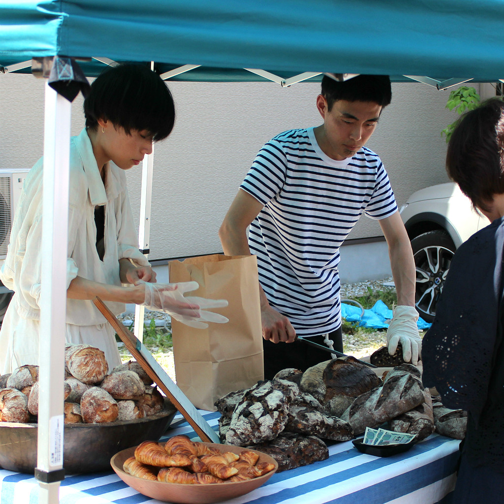 Home-baked breads sold at Shin Tatemachi's Coffee Campaign Street Festival
