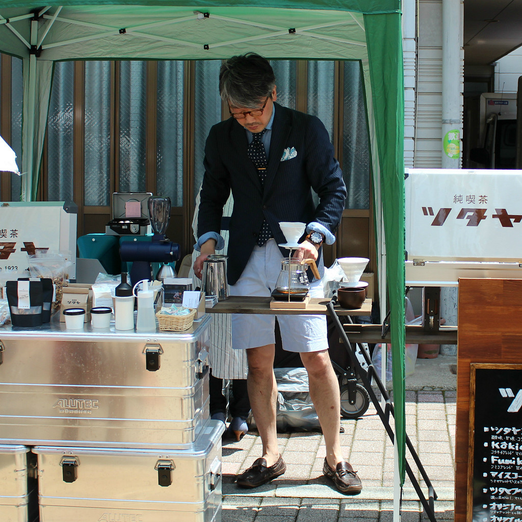 Beating the heat while staying professional in Shin Tatemachi's Coffee Campaign in Kanazawa, Japan