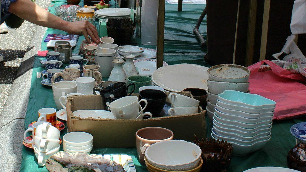 Flea market items at the Seseragi Marriage Festival in Kanazawa, Japan
