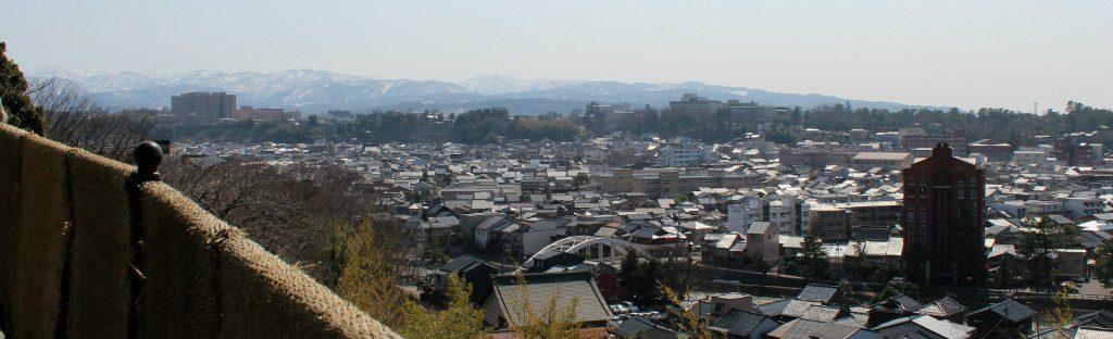 Eastern view from Hosen-ji Temple in Utatsuyama, Kanazawa, Japan
