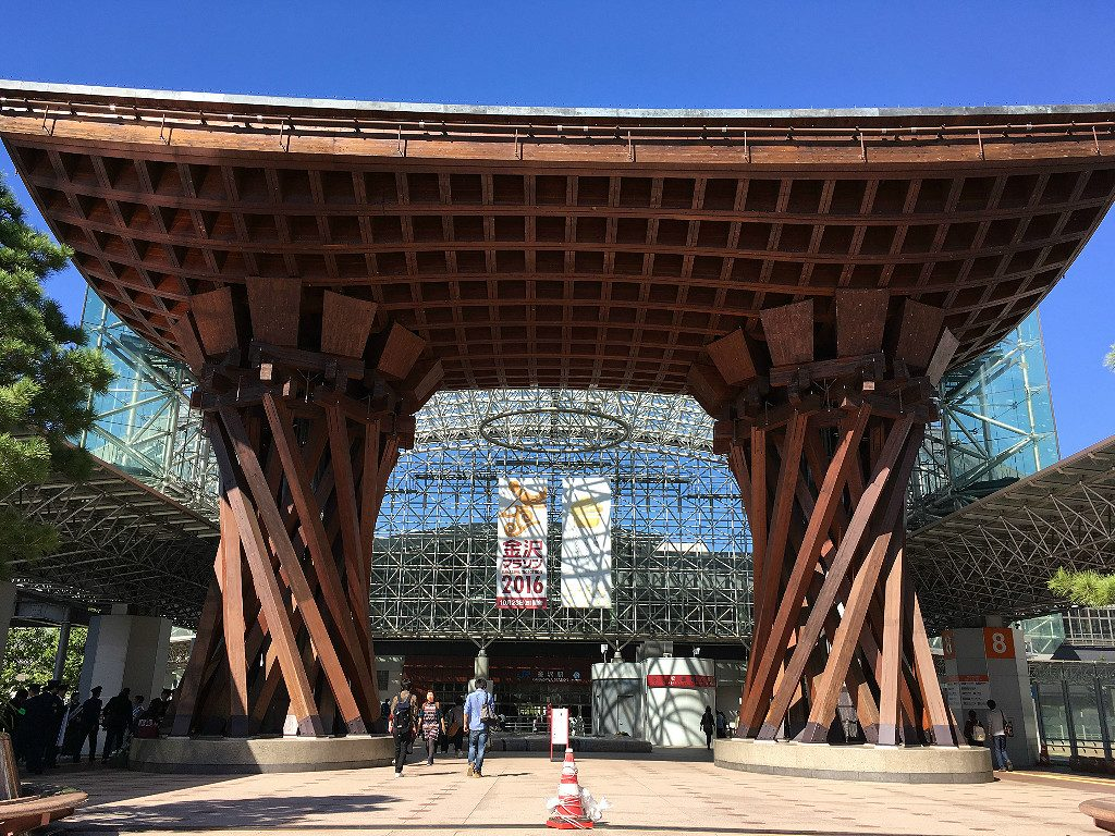 The Drum Gate at Kanazawa Station, Aaron Maninno