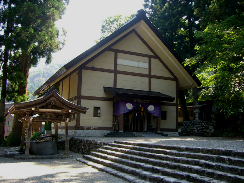 Doburoku Festival Hall, exterior, at Shirakawago