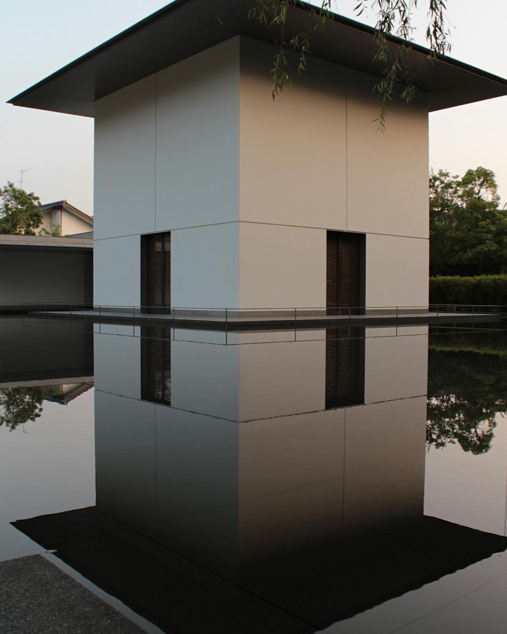 Contemplative Space exterior at the D.T. Suzuki Museum in Kanazawa, Japan