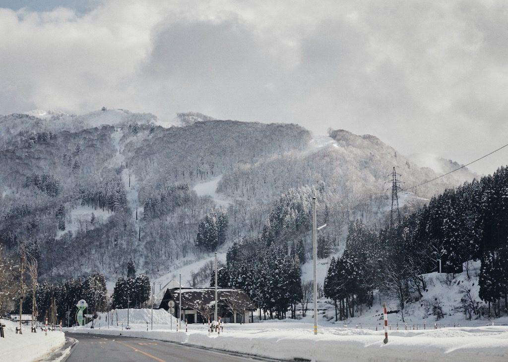 Shiramine, heavy snow