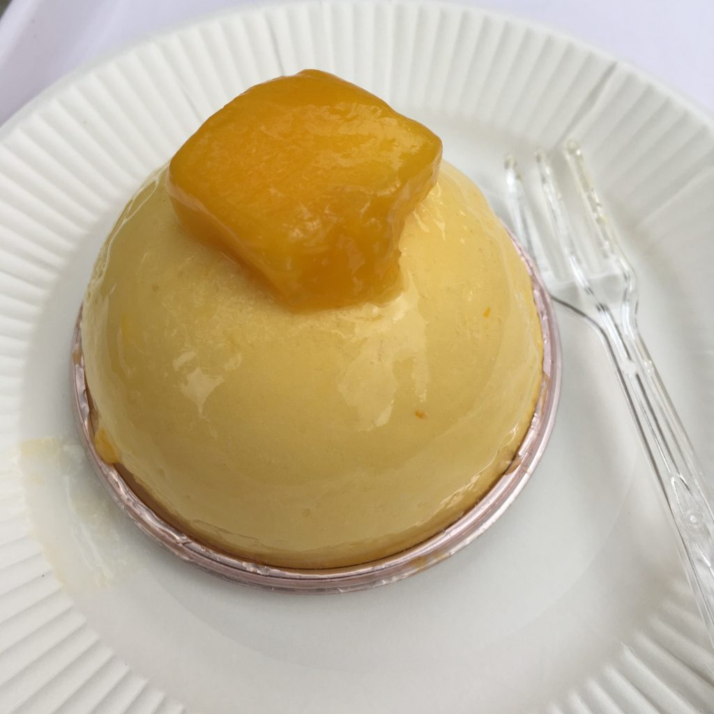Mango custard cream puff from a sweets fair in Kanazawa, Japan, by Aaron Mannino
