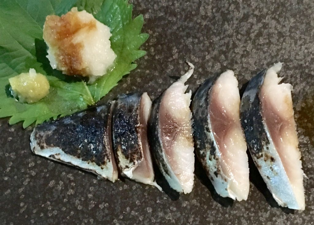 Pickled mackerel at Huni Dining Bar in Kanazawa, Japan, by Aaron Mannino