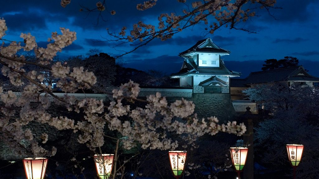 Kanazawa Castle Light Up, one of many light up events in Kanazawa, Japan