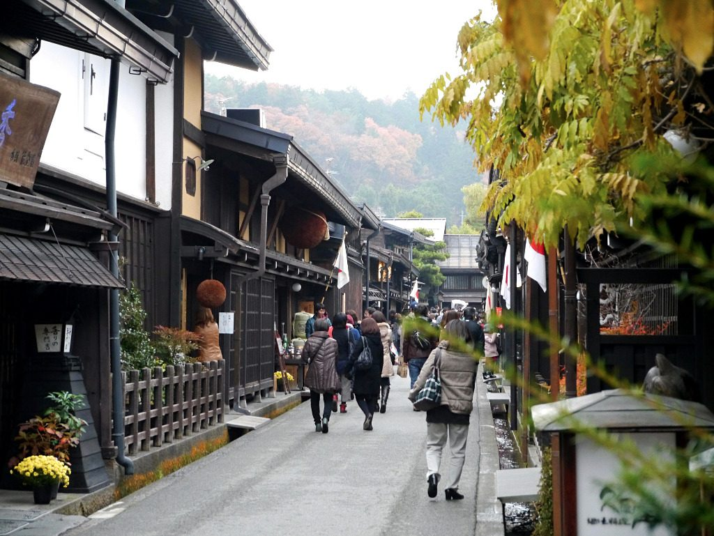 The main road of Old Town in Takayama