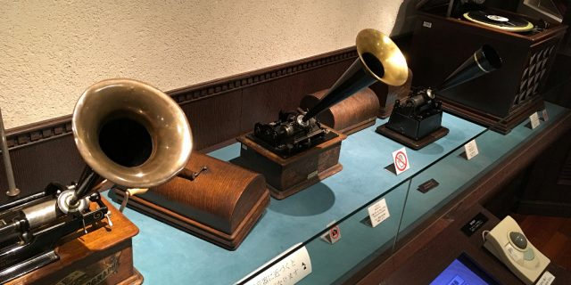 Exhibition inside Kanazawa's Phonograph Museum, by Aaron Mannino