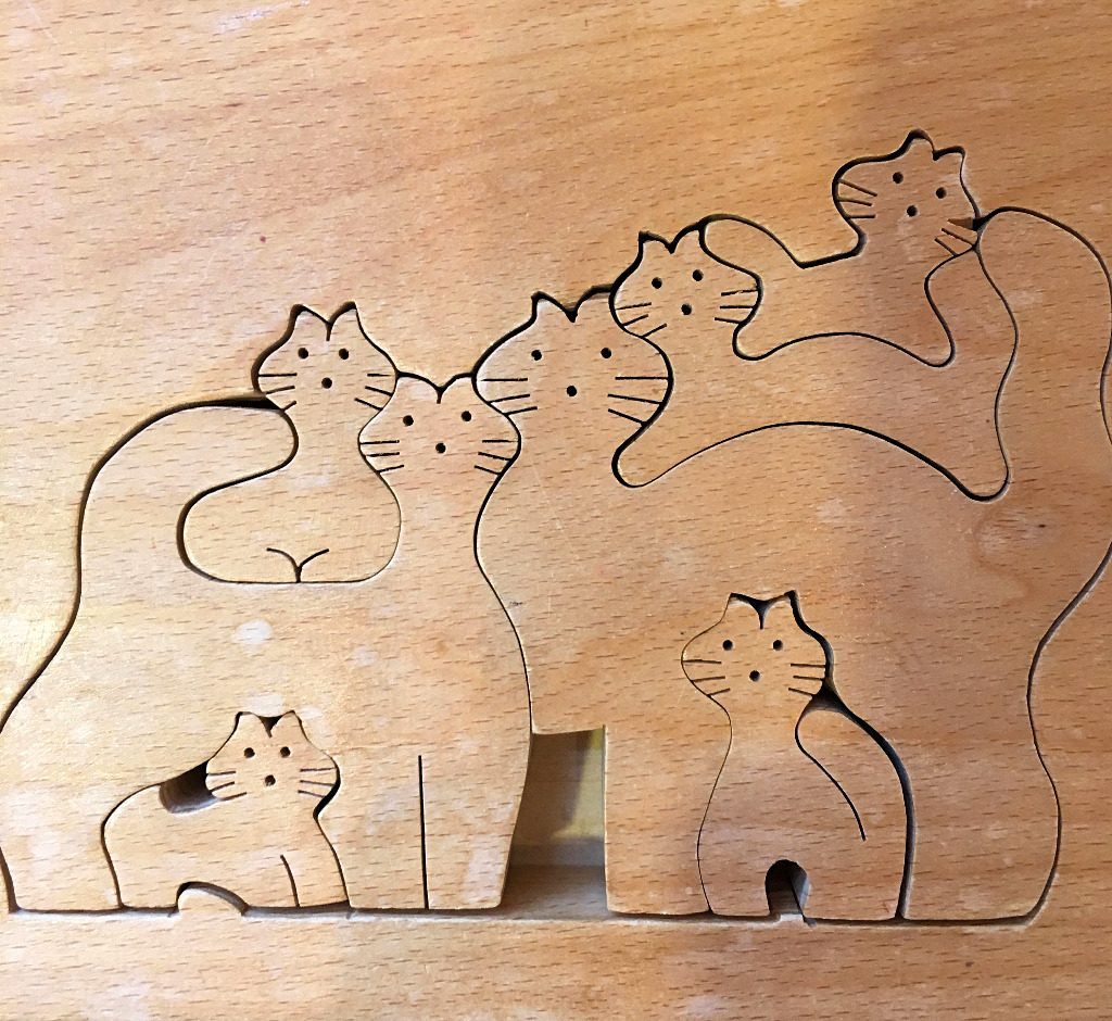 A hand-made wooden puzzle of Kanazawa, Japan, by Aaron Mannino