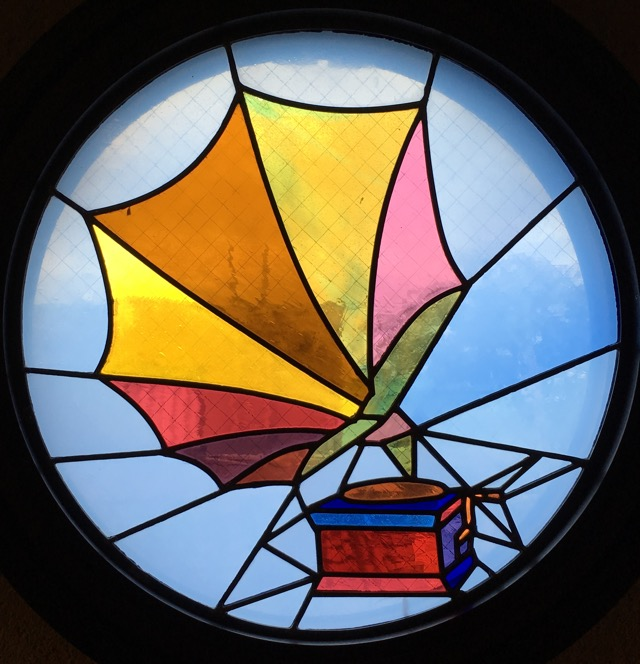 Stained glass from Kanazawa's Phonograph Museum, by Aaron Mannino