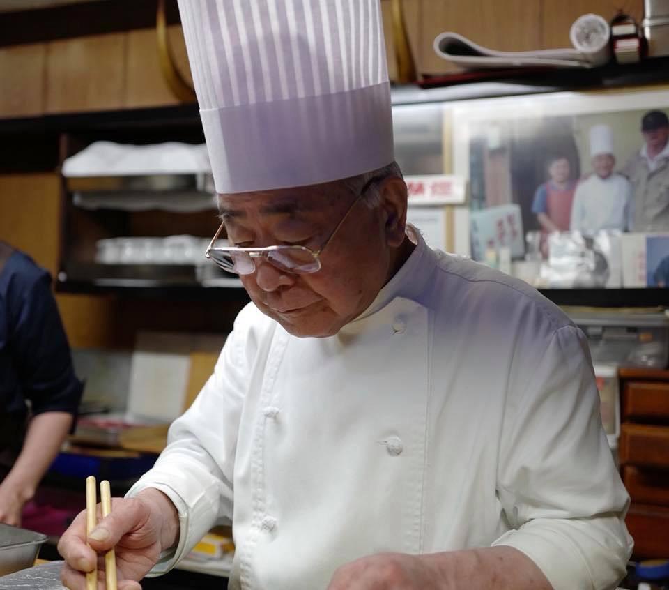 The chef at Hiyoko, Kanazawa