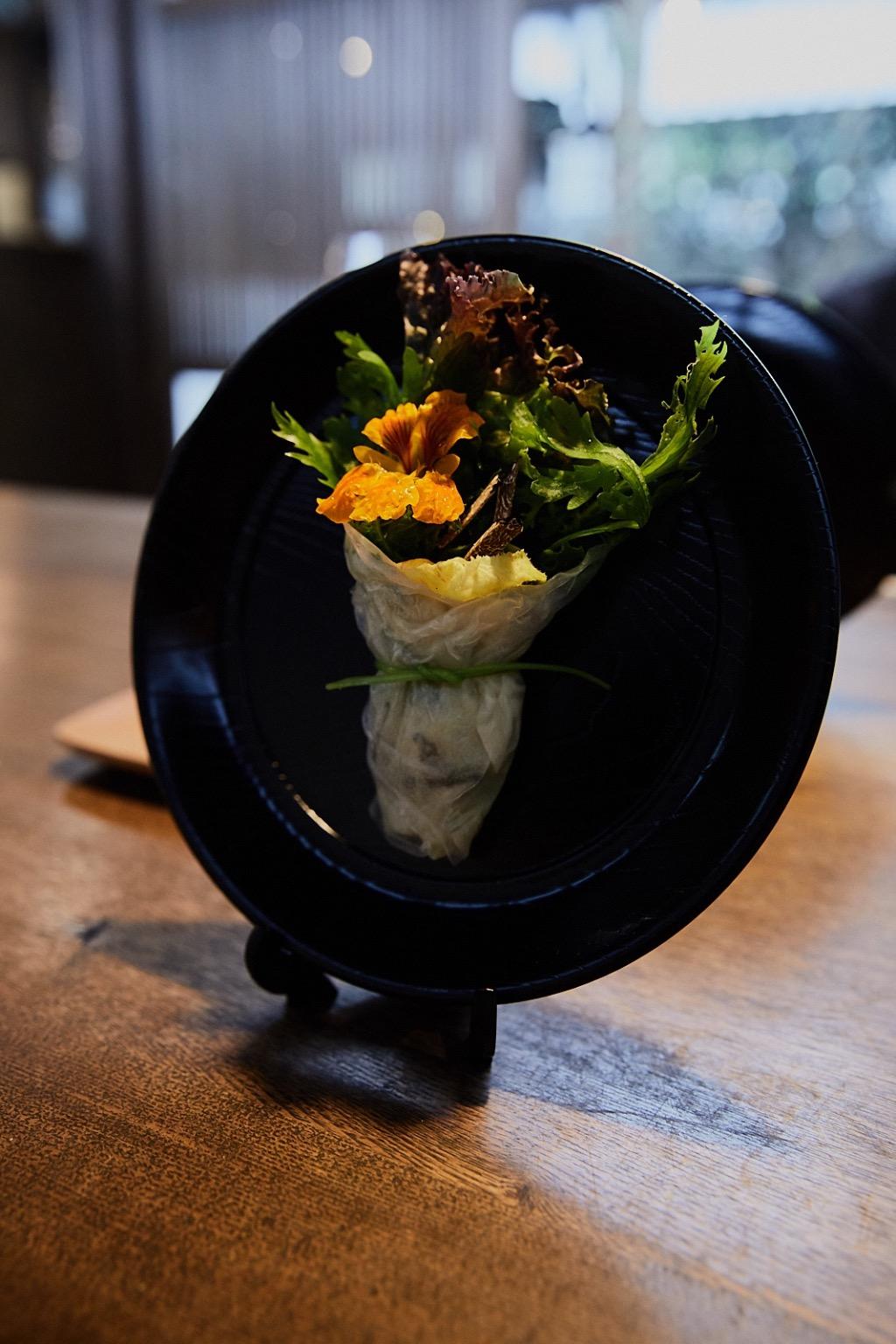 Salad bouquet at YArn in Komatsu