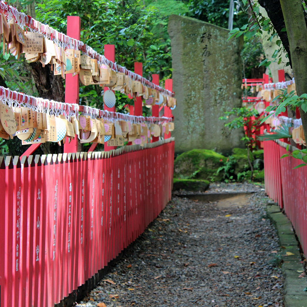 The path from Ishiura Shrine through the Honda Forest in Kanazawa, Japan