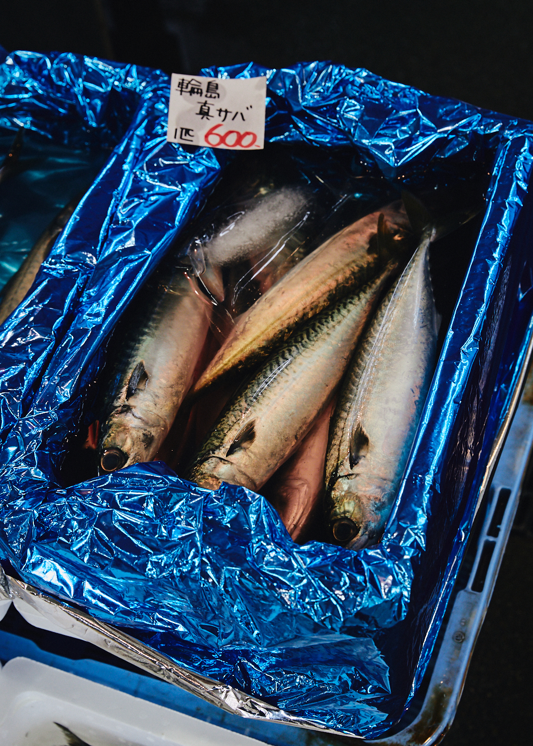 Fish for sale at Iki Iki Market in Ono Port, Kanazawa, Japan