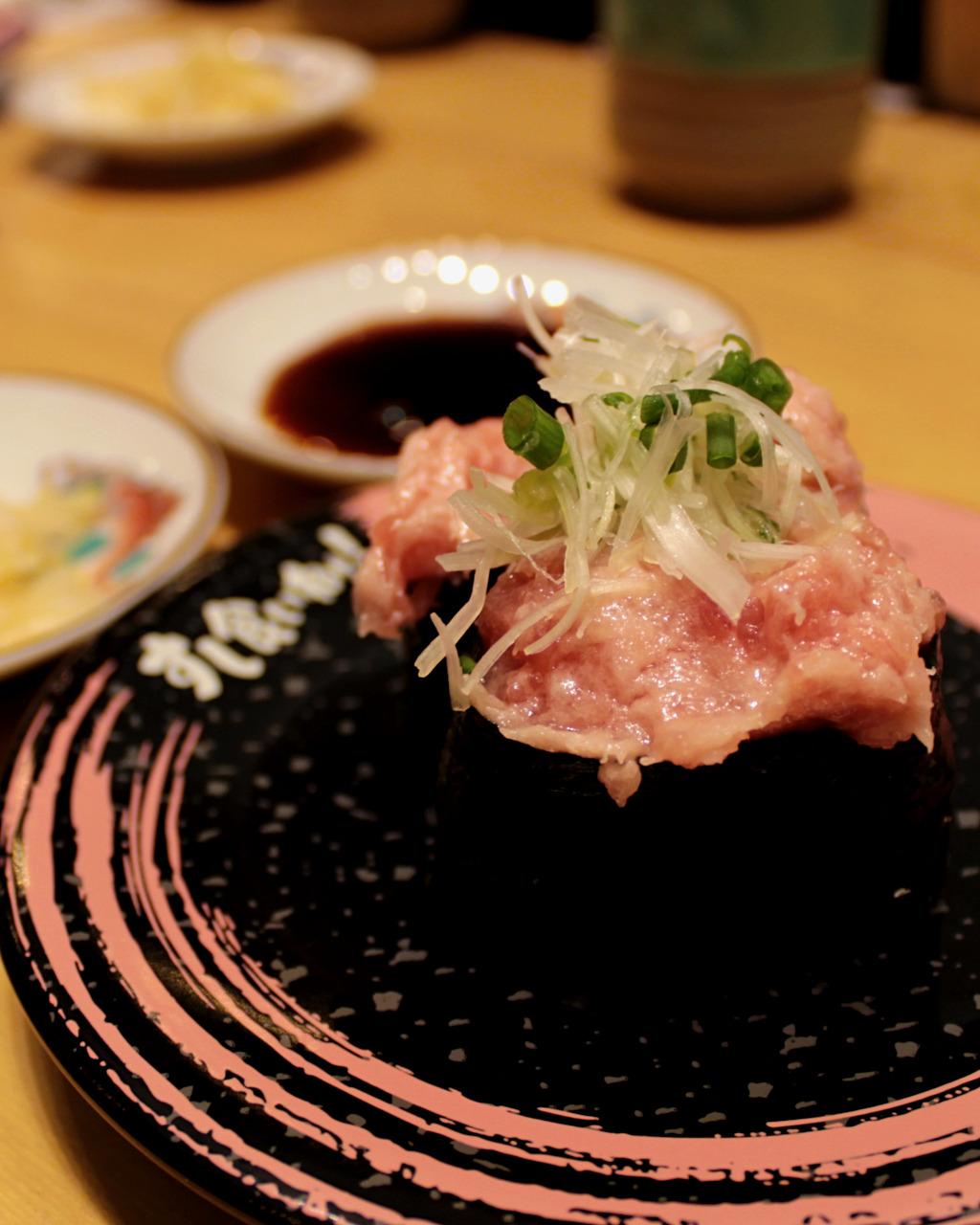 Negitoro sushi at Kuine in Kanazawa, Japan