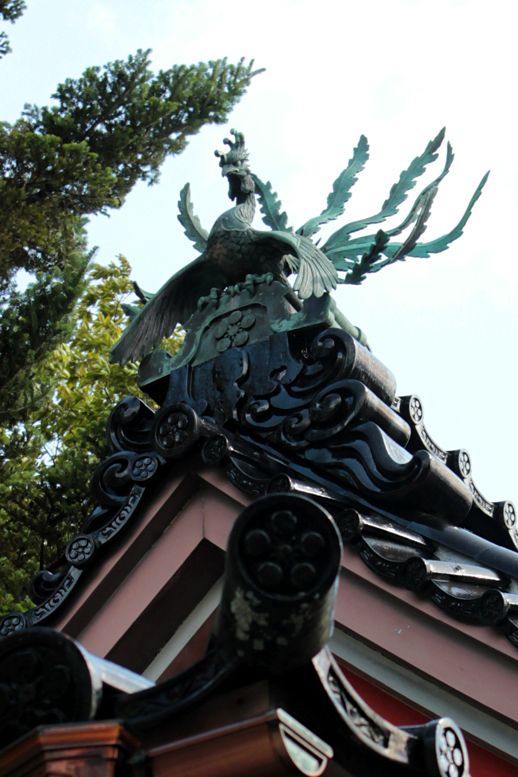 The phoenix of Kanazawa Shrine