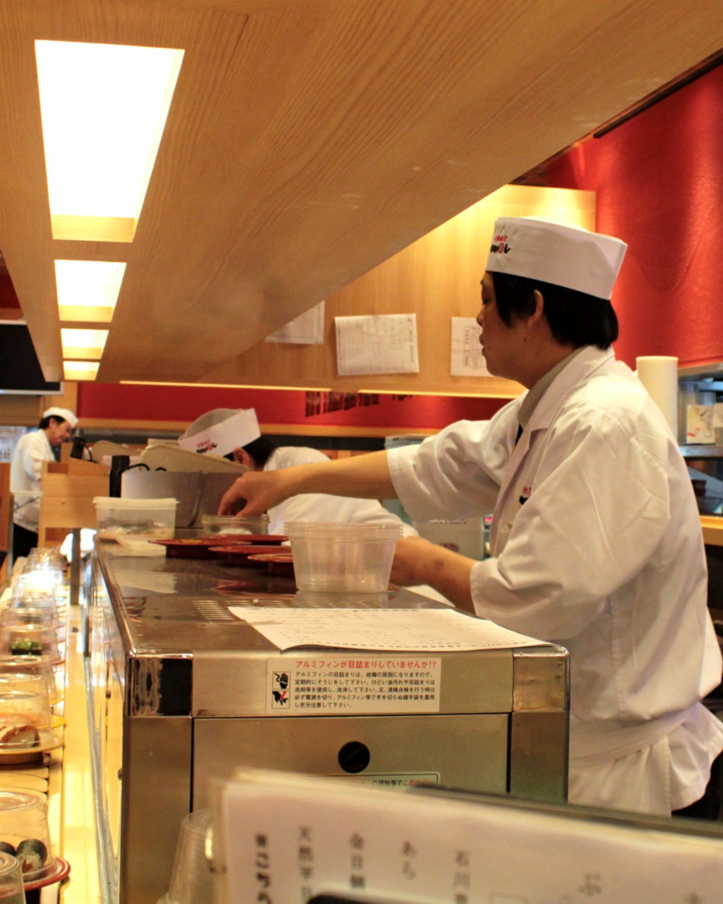 Chefs at Mori Mori Sushi in Omicho Fish Market, Kanazawa Japan
