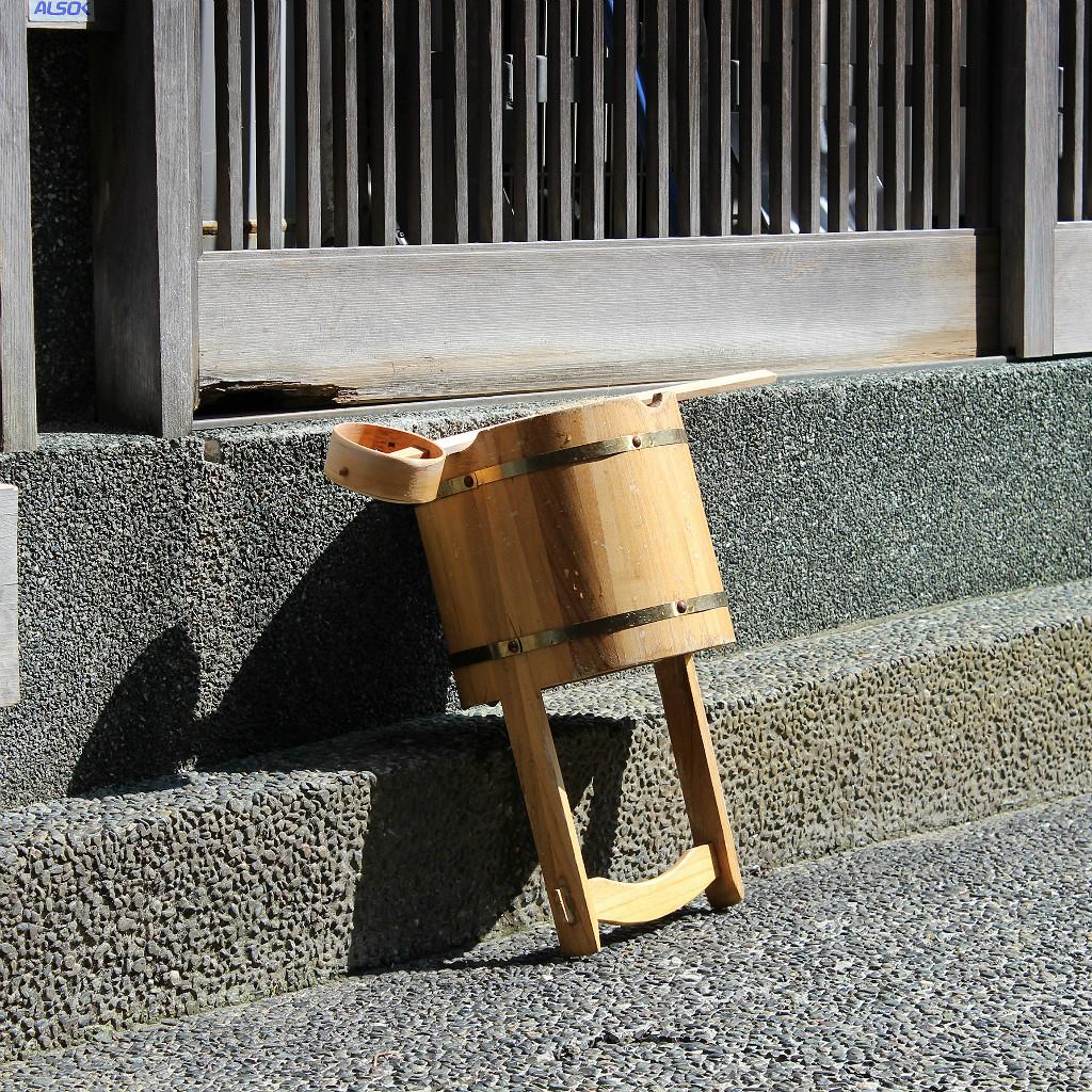 Water bucket and ladle in Kazuemachi, Kanazawa
