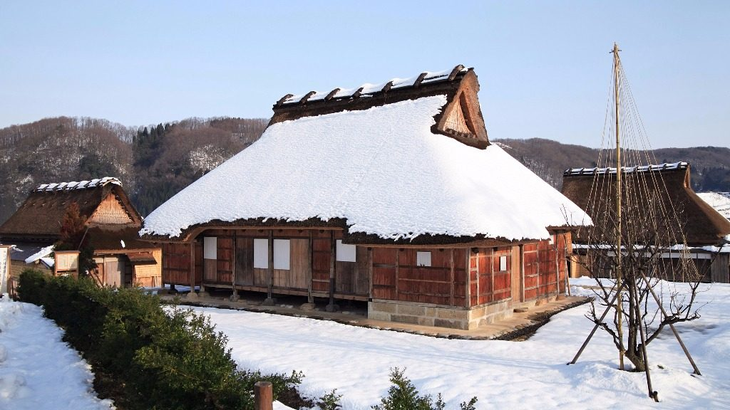 Edomura in winter city of Kanazawa