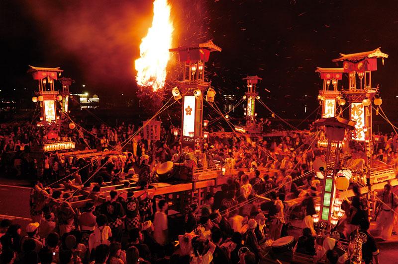 Abare Fire and Violence Festival in Ushitsu in the Noto Peninsula, north of Kanazawa