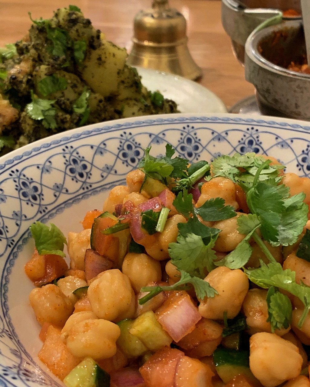 Chickpea and Potato Salads at Aashirwad Indian Nepalese cuisine in Kanazawa